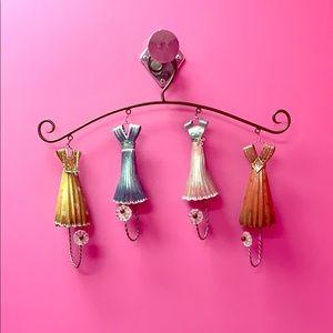 Vintage Boutique Metal Dress Hanger Display Hooks